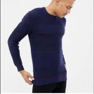 TED BAKER LONDON Cable Knit Crew oversized Sweater